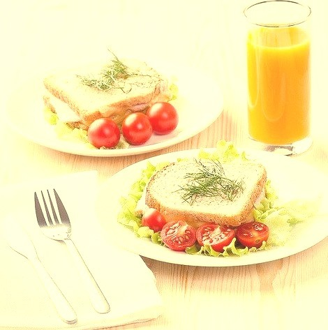 Sandwich, Tomato, Oj