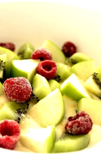 Salad, Raspberry, Fruit, Kiwi