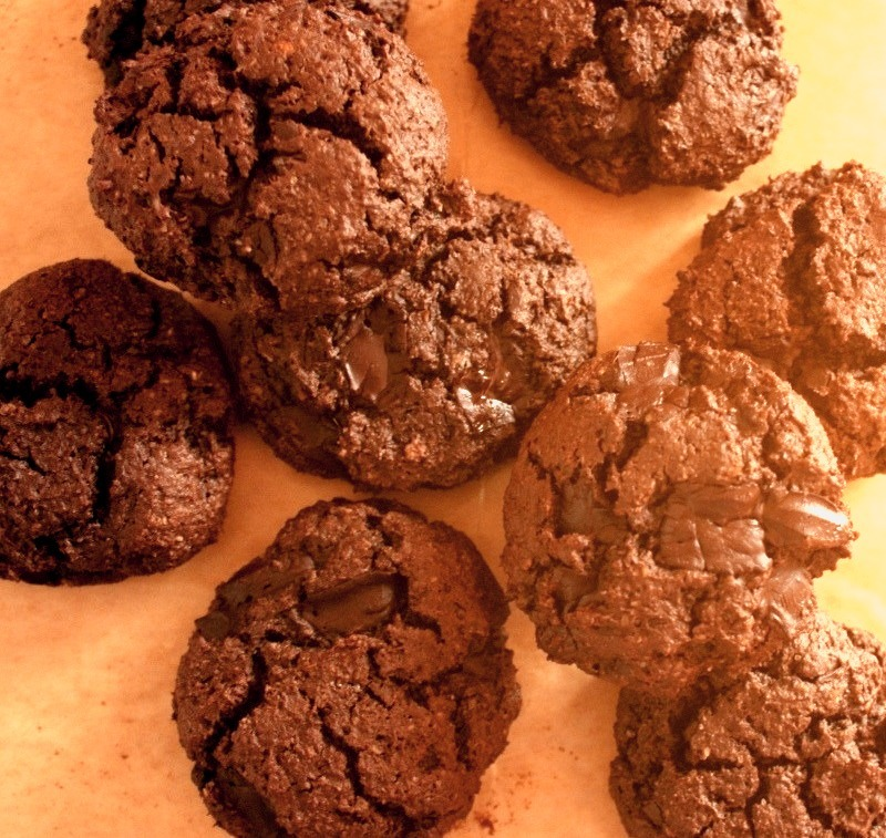 Secret Double Chocolate Peanut Butter Cookies