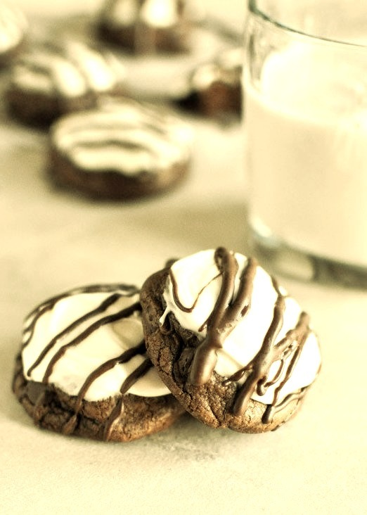 homemade peppermint patty cookies