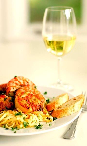 Pasta, Shrimp, Seafood