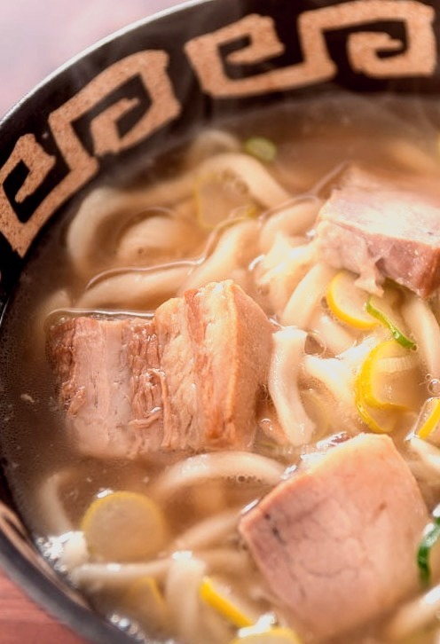 Buta Udon (Udon with braised pork)