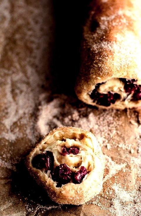 (Idiot Proof) 5-Ingredient Cranberry + Brie Cinnamon Sugar Puff Pastry Swirls