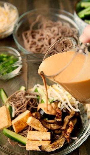 Otsu Noodles (Sesame Soba Noodles)