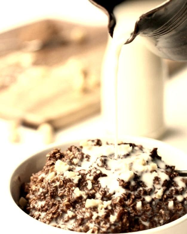 Nutella brownie oatmeal